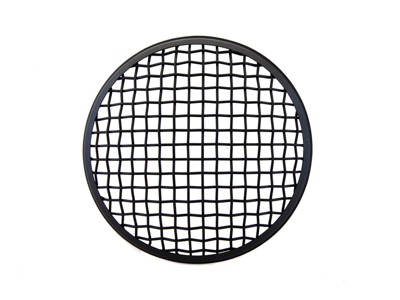 7 u0026quot  inch matt black mesh grill metal headlight cover