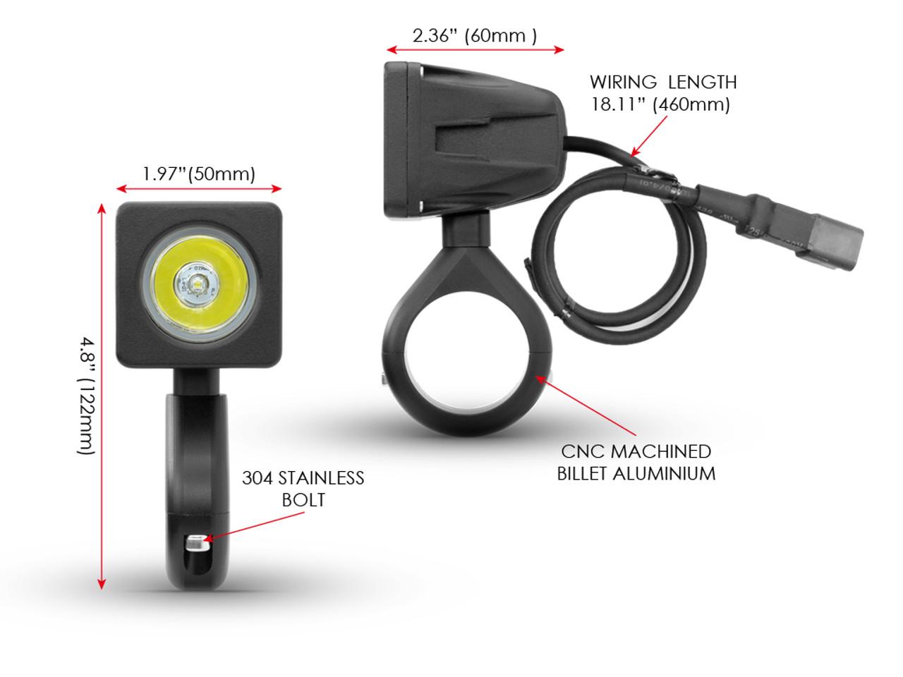 Spotlight Wiring Harness Perth : W led motorbike spotlight kit with wiring harness