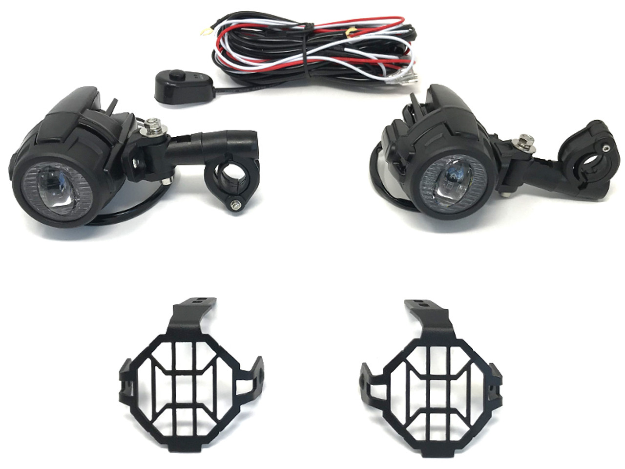 30w motorbike spotlights with wiring switch kit for adventure bike 30w motorbike spotlights with wiring switch kit for adventure bike quad trike asfbconference2016 Choice Image