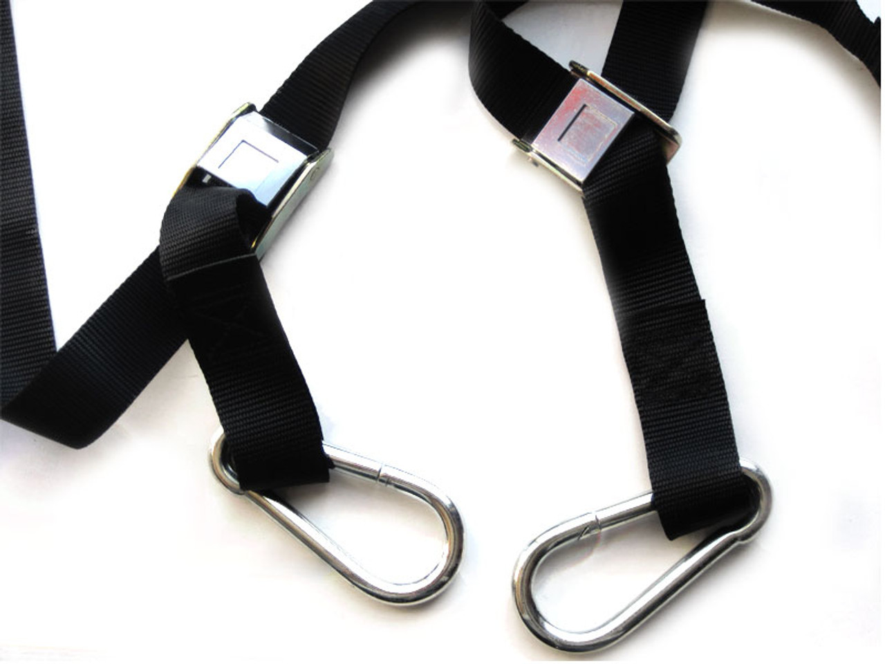 motorcycle transportation tiedown straps with harness