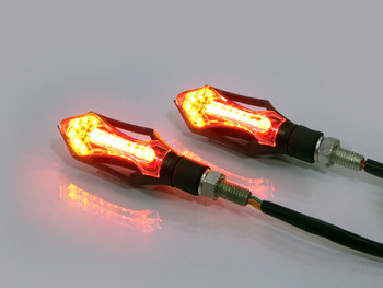 Motorcycle Motorbike LED Rear Indicators with Integrated Stop & Tail Lights