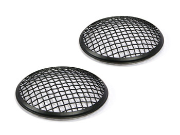 """5.75"""" INCH Black Mesh Grill Headlight Covers for Caterham Project Kit Car - PAIR"""