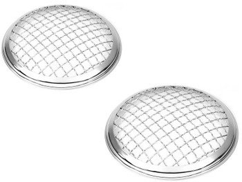 """5.75"""" INCH Chrome Mesh Grill Headlight Covers for Caterham Project Kit Car PAIR"""