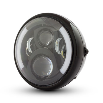 "7.7"" Motorbike LED Headlight with Integrated DRL & Indicators - High Quality"