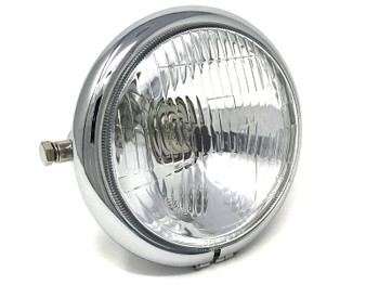 6 inch Motorbike Headlight Custom Chrome for Vintage Retro Project - TOP QUALITY