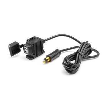 Adventure Motorbike DIN Male Plug to Twin USB Power Supply & Long Harness . Also for some Quads, ATVs & Trikes