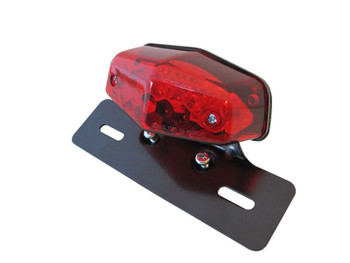 Motorbike Motorcycle Universal Lucas Replica LED Stop / Tail Light - Metal Bracket