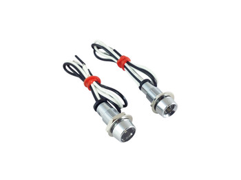 High Quality Polished Alloy Micro LED Motorbike / Scooter Marker Lights & Dashboard Display Lights