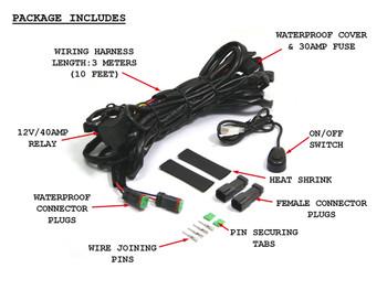 Complete Spot Fog Light Universal Wiring Loom Harness Switch Kit For All Cars Trucks Vans Buggies