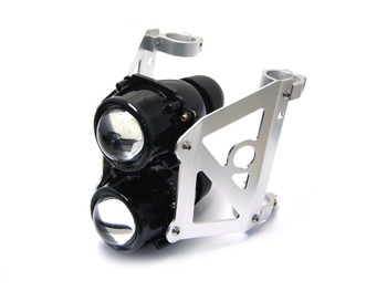 Dual Stacked Streetfighter Projector E-marked Motorcycle Headlight Set (size options available)