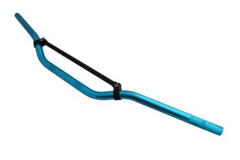 """22mm 7/8"""" Blue & Black Braced Motorbike Handlebars for Trail / Motorcross / Streetfighter / Scrambler"""