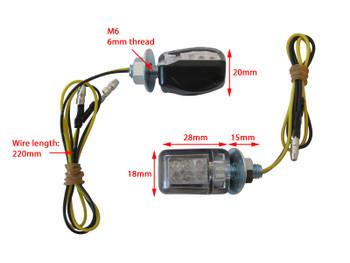 Universal LED E-marked Black Mini Indicators for Motorcycle Motorbike Trike Scooter