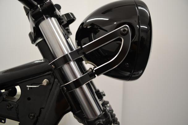 Motorbike Motorcycle Headlight Brackets CNC Aluminium HIGH QUALITY (size options available)