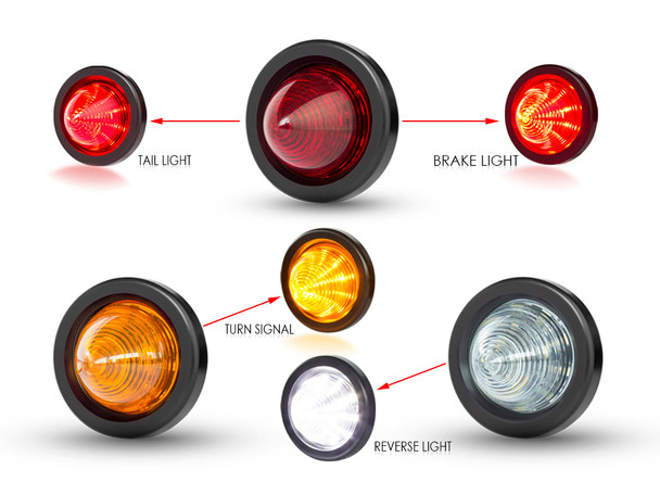 Project Car LED Stop & Taillights, Indicators, Turn Signals, Reverse Lights x 6