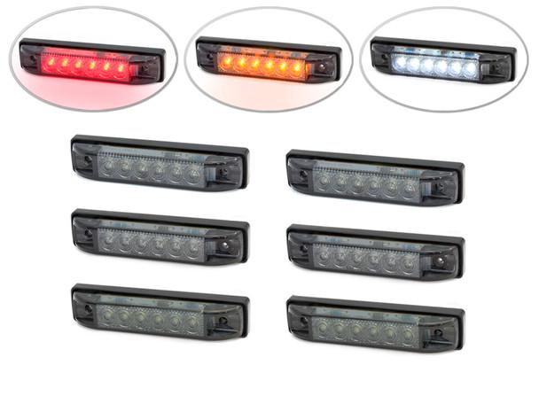"4"" Flush Mount LED Stop & Tail Lights + Turn Signals + Reverse Lights - Set Of 6"
