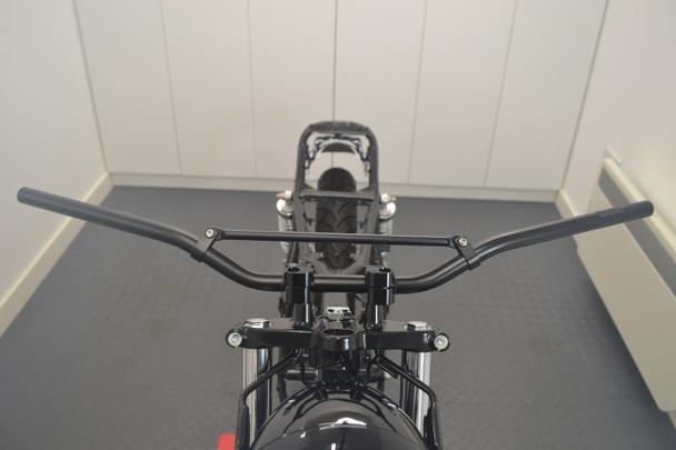 "22mm 7/8"" Black Braced Motorbike Handlebars for Trail / Motorcross / Streetfighters / Scramblers"
