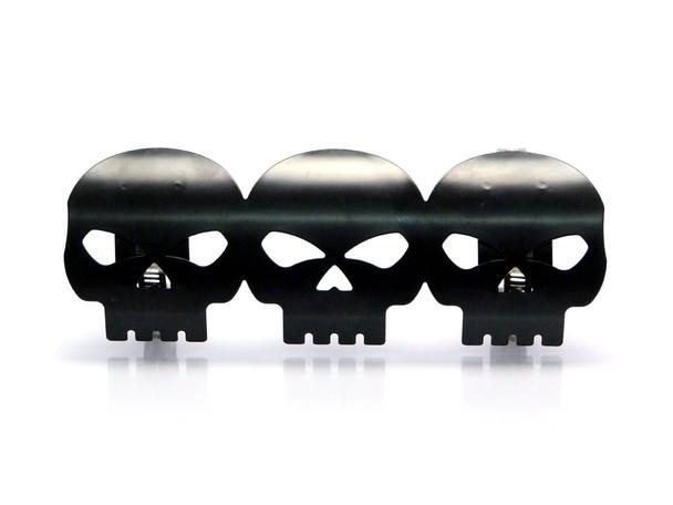 Black Skull Exhaust Heat Shield for Retro Cruiser Custom Project Motorbike