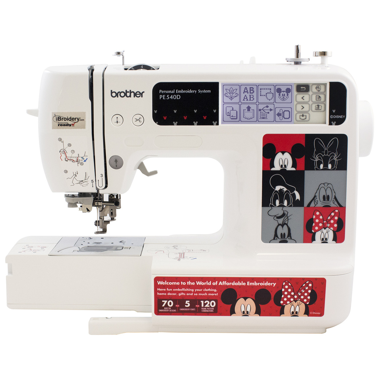 Brother Pe540d Disney Embroidery Only Machine 39900 Free Shipping Threading Diagrams Arm