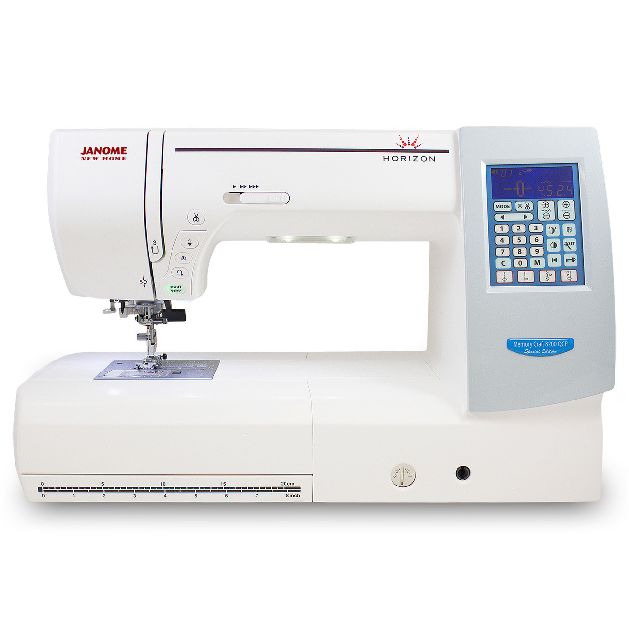 Janome Memory Craft Horizon 8200QCP Special Edition - Front View ...