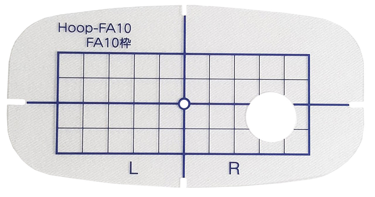 janome replacement template with grid for fa 10 hoop 8 99