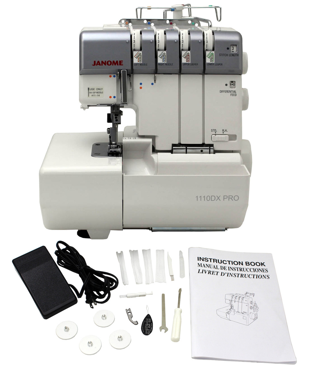 ... Janome 1110DX Pro My Lock Serger - Refurbished