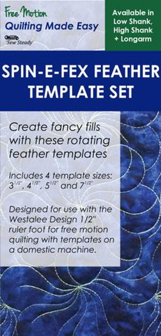 sew steady westalee spin e fex feather template 4pc set 69 99