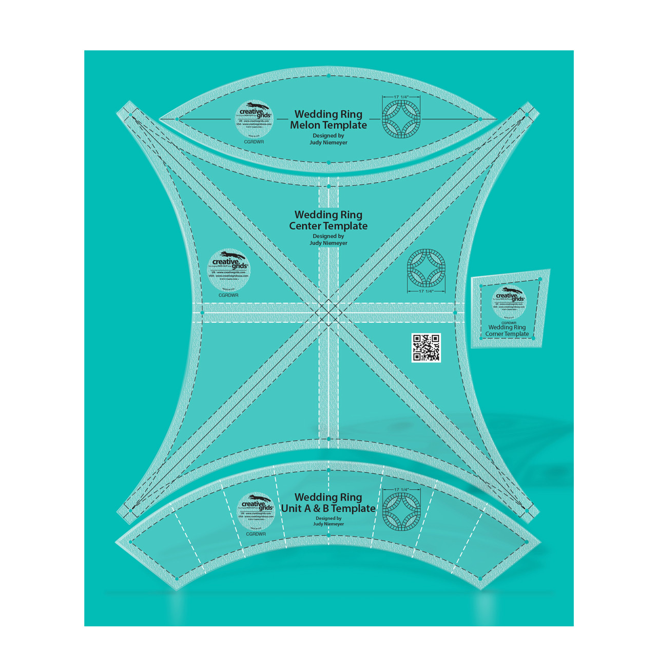 creative grids double wedding ring templates quilt ruler 37 99