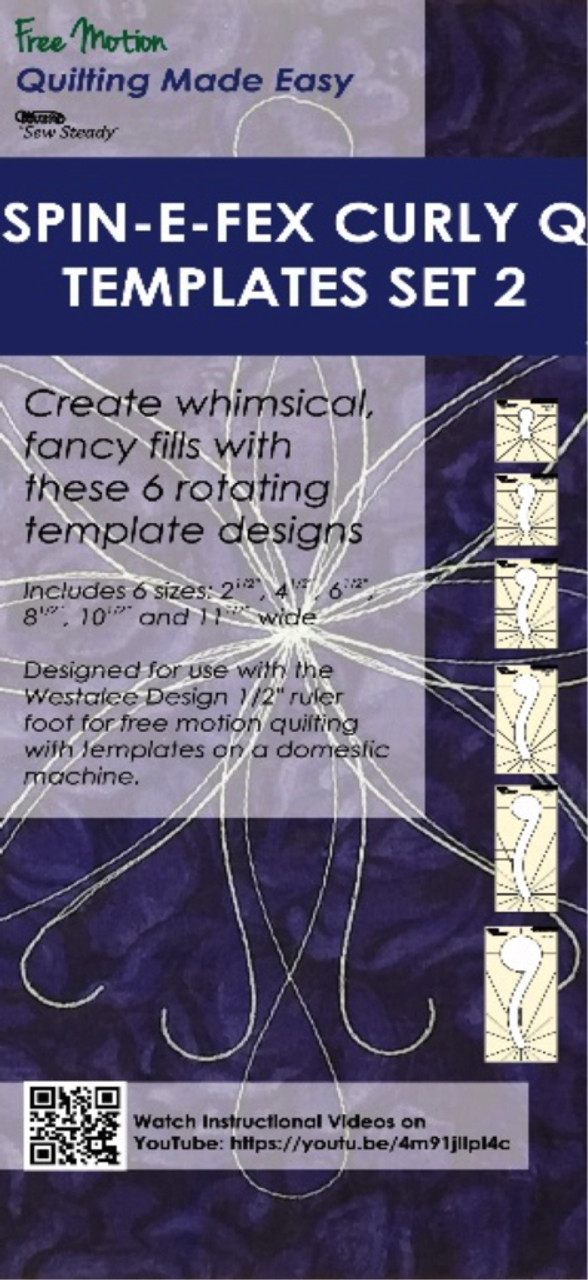 sew steady spin e fex curly q templates set 2 99 00 free shipping