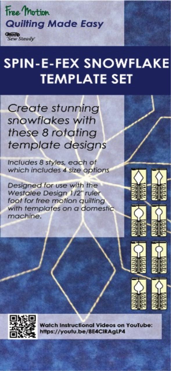 sew steady spin e fex snowflake template set 4 39 00 free shipping
