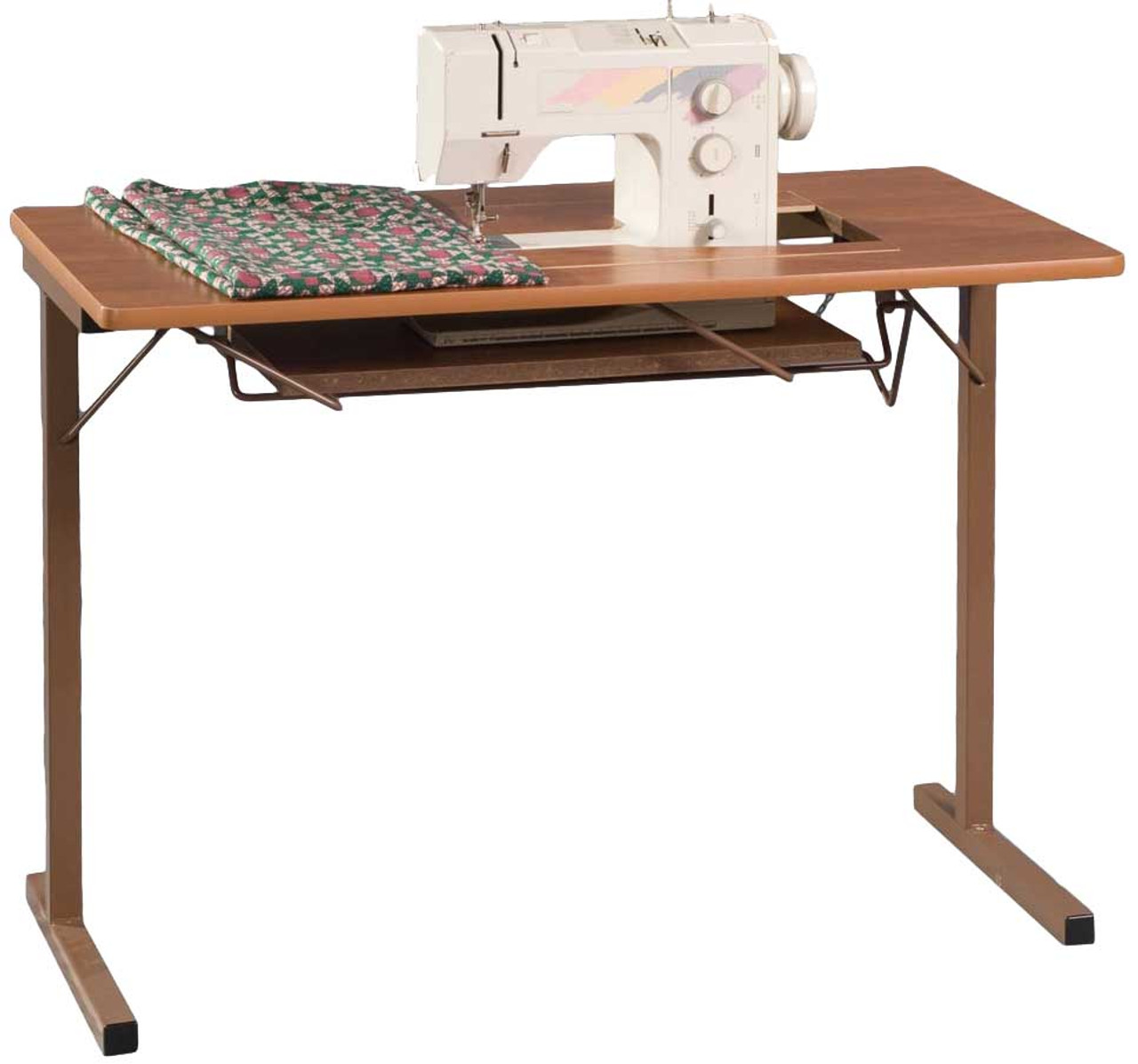 Bon Fashion Sewing Cabinets 299 Foldable Sewing Machine Table Rustic Maple