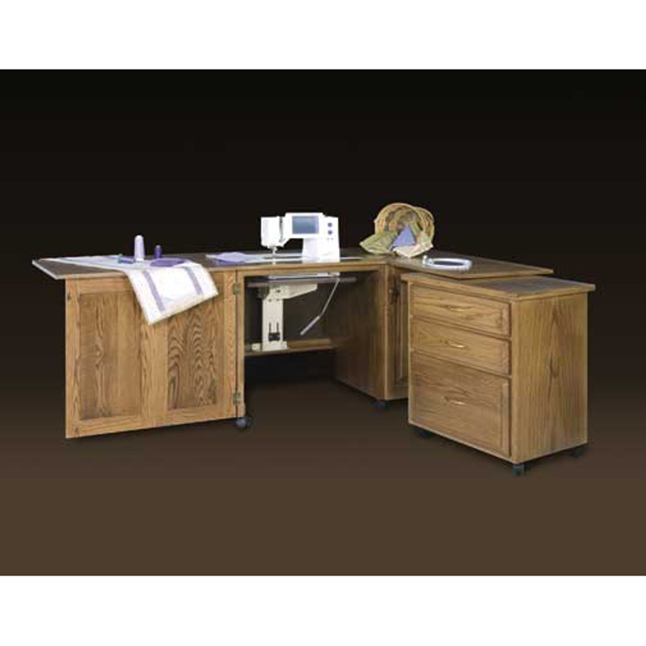 Schrocks Of Walnut Creek Embroidery Cabinet Duo In Real