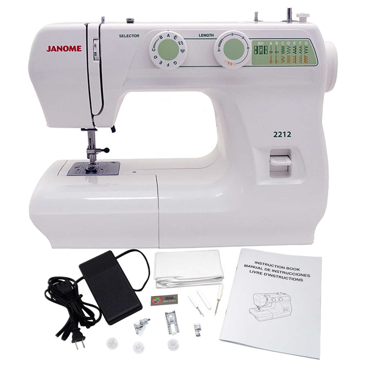 ... Janome 2212 Sewing Machine Includes Exclusive Bonus Bundle ...