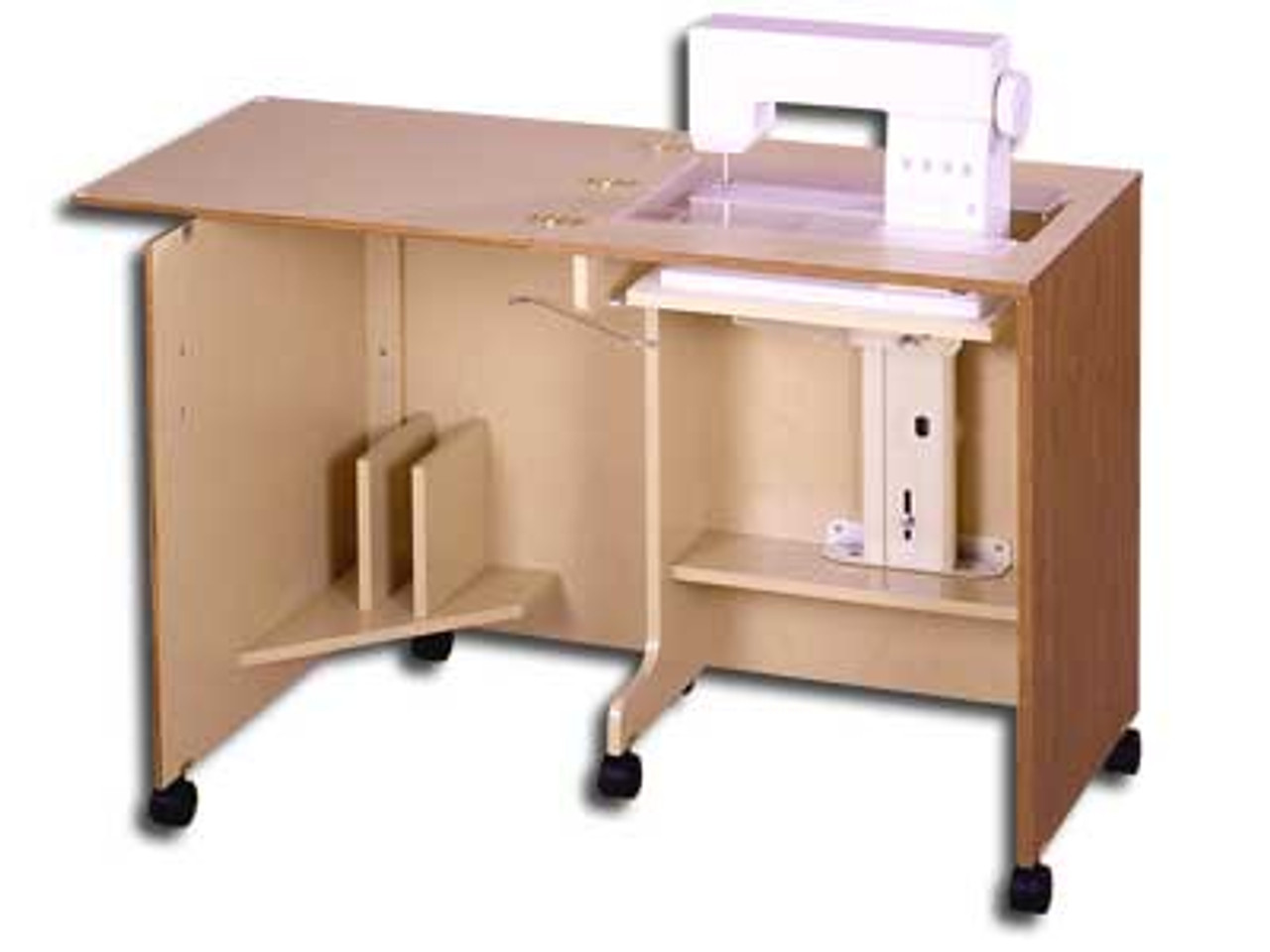 Horn Of America 40 Cabinet With Airlift In Sunset Oak 404040 Adorable Horn Sewing Machine Table