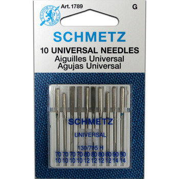 Schmetz Universal Needles / 10 Pack - Small Size Assortment (4 - 70/10, 4 - 80/12, 2 - 90/14)