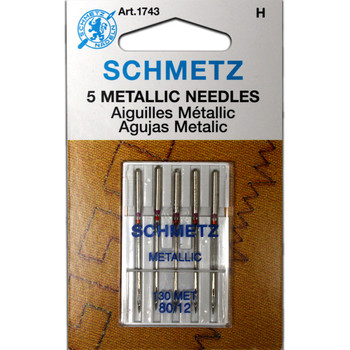 Schmetz Metallic Needles - Size 80/12
