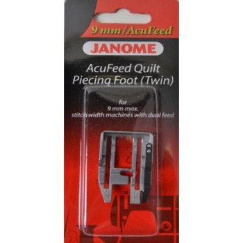 Janome AcuFeed Quilt Piecing Foot (Twin) for 9mm Machines