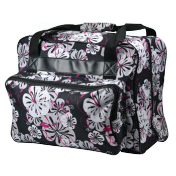 Janome Sewing Machine Tote Bag - Black Floral