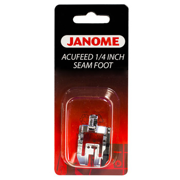 "Janome Acufeed 1/4"" Seam Foot for MC 7700, 6600P, Elna 740 and 720"
