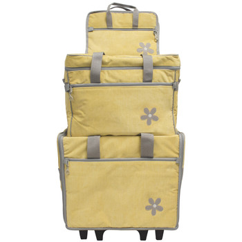BlueFig DS19 Daisy Designer Collection 3PC Set in Yellow Brushed Chenille