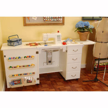 Arrow Norma Jean Model 351 Sewing Cabinet In White ...