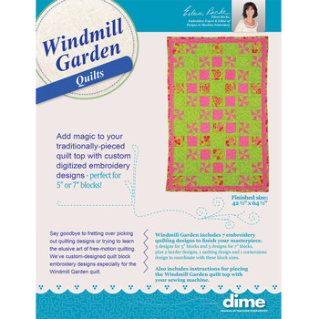Windmill Garden Quilt Embroidery Project Kit