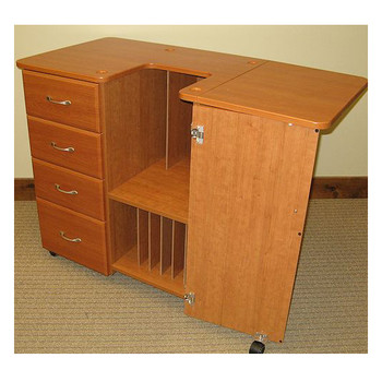 Fashion Deluxe Embroidery Work Station in Rustic Maple