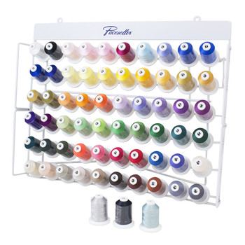 Brother Pacesetter 60 Color Poly Thread Set with  Rack