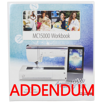 Janome Horizon MC15000 Workbook Addendum