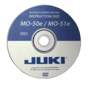 Juki MO 50E and 51 Serger Instructional DVD