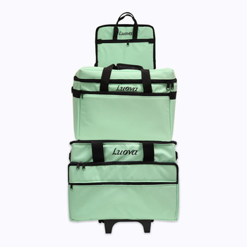 Luova 3 Piece Sewing Machine Trolley Set