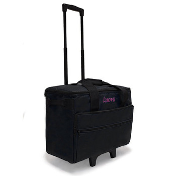 "Luova 19"" Rolling Sewing Machine Trolley in Black"
