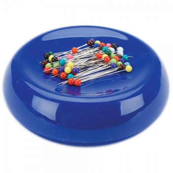 Grabbit Blue Magnetic Pincushion With 50 Pins