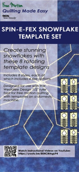 Sew Steady Spin-E-Fex Snowflake Template Set 3