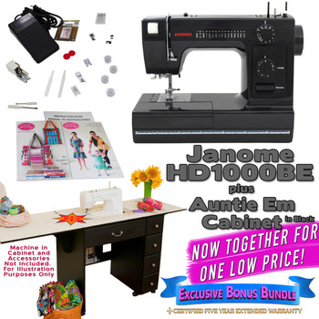 Janome Sewing Machine Arrow Sewing Cabinet Combo 4